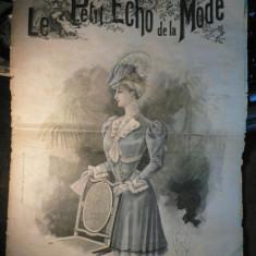 JURNAL DE MODA AL ANILOR 1900 - LE PETIT ECHO DE LA MODE - 18 FEBRUARIE 1906 - NUMEROASE RECLAME DE EPOCA - Revista vintage