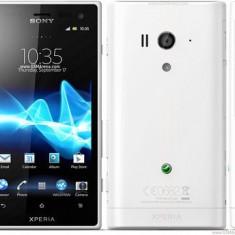 husa protectie mesh alba Sony Ericsson Xperia Acro S LT26w silicon rigid antiradiatii + folie protectie ecran
