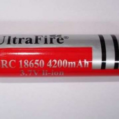 Acumulator UltraFire 18650 3.7V laptop, bormasina lanterna laser led Alta