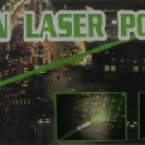 LASER POINTER VERDE 532nm 50mW GREEN CLASA II cap 3D proiectii max 2km- NOU
