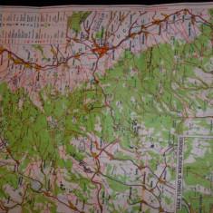 Harta veche, Muntii Harghita, Z. Racz, A. Cioaca - Harta Romaniei
