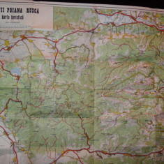 Harta turistica veche MUNTII POIANA RUSCA, Krautner - Harta Romaniei