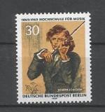 BERLIN - WEST Bw 347 100 ani Scoala Superioara de Muzica in Berlin 1969