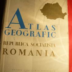 Atlas Geografic RSR 1965, format mare, cu o anexa cu ilustratii Foto din Romania