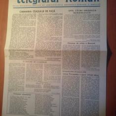 Ziarul telegraful roman 15 ianuarie 1990-foaie editata de ariepiscopia sibiului