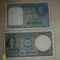 O rupie India 1940 si o rupie Ceylon 1941