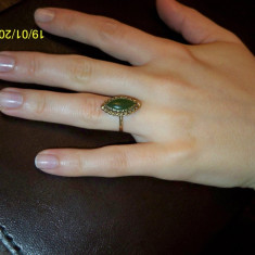 Inel de aur cu jad natural