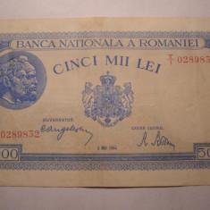 5000 lei 1944 Mai - Bancnota romaneasca