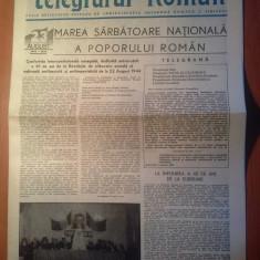 Ziarul telegraful roman august 1989 ( marea sarbatoare nationala, 23 august )