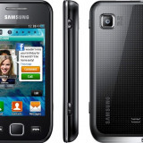 Samsung Wave 575 - functioneaza perfect (primul proprietar) - codat orange - Telefon Samsung, Negru, <1GB, Fara procesor, Nu se aplica