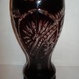 Vaza flori sticla rubin