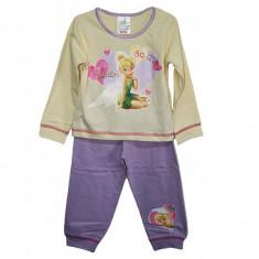 Pijamale fetite Disney Fairies TinkerBell 1 - 4 ani / Pijamale subtiri 2 piese, Marime: Masura unica, Culoare: Din imagine, Fete
