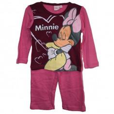Pijamale fetite Disney Minnie 2 ani - 6 ani bumbac/Pijamale groase 2 3 4 5 6 ani, Marime: Masura unica, Culoare: Din imagine, Fete