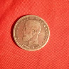 Moneda 1 Leu 1906 cap-cap, comemorativa Carol I, argint, cal.Buna - Moneda Romania