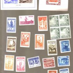 Lot colite si timbre Romania, Amestecate