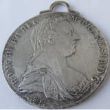 Medalion pandantiv vechi din argint Maria Tereza - de colectie - Pandantiv argint
