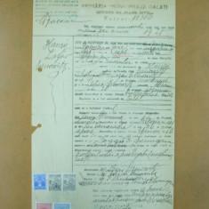 Act de nastere Primaria Galati 1925 + chitanta valoare locativa - Hartie cu Antet
