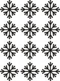 Set 12 stickere fulgi de zapada - model 1