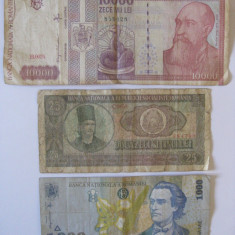 3 BANCNOTE ROMANESTI COLECTIE - Bancnota romaneasca