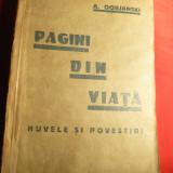 A.Dobjanski - Pagini din viata - Prima Ed. 1934 - Nuvela