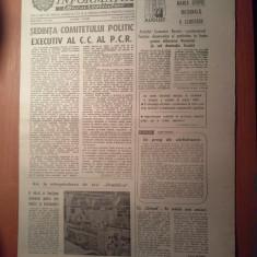 Ziarul informatia bucurestiului 20 august 1980-sedinta comitetului politic PCR