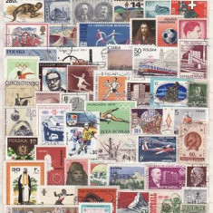 345 - Lot timbre stampilate si nestampilate diverse tari