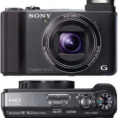 SONY DSC HX-9V BIONZ 16.2MP Superangular cu zoom 16X, FULL HD FILM 50p, 3D, GPS, 2 baterii, panorama 3D prin balans, panoramare inteligenta la 42.9MP - Aparat Foto compact Sony, Compact, Peste 16 Mpx, Peste 3 inch