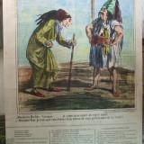 Gravura color caricatura Cham Actualitati Moldo - Valahia satira Turcia A. de Vresse Paris 1870 - Pictor roman