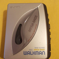 Walkman Cassette Player SONY WM-EX190, AVLS MEGA BASS - Casetofon