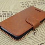 Carcasa / Husa / Toc Flip Piele IPHONE 5 5S- MARO - CALITATE SUPERIOARA - Husa Telefon Apple