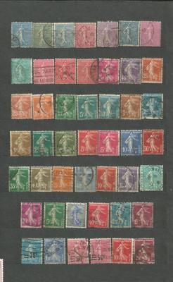FRANTA - SEMANATOAREA, serie stampilata DEPARAIATA , LOT81 foto