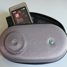 Boxa Portabila Sony Ericsson MAS100 Original / Difuzor portabil Sony Ericsson cu Husa si Antena Radio Incorporata (Produs Original / Lichidare Stoc)