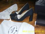 Pantofi Prada originali ca noi marimea 37, Bleumarin, Cu toc