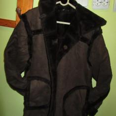 Palton/ jacheta maro cu blanita - cojoc dama