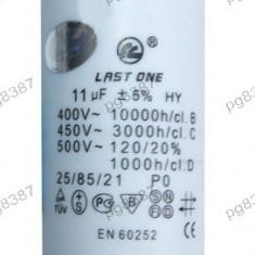 Condensator pornire motor 11uF-450V - 327108