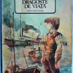 Jack London - DRAGOSTE DE VIATA ŞI ALTE POVESTIRI, Ed. Ion Creanga, 1986, 102 pag ilustrate (carte pt copii) - Carte de povesti