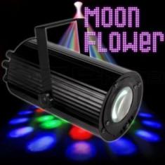 SUPER SCANNER LUMINI DISCO CU LEDURI MOON FLOWER LX15, LUMINA DISCO CU LEDURI SI ACTIVARE LA SUNET, FUNCTIE DE STOBO. - Lumini club