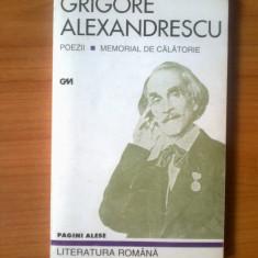 h3 Grigore Alexandrescu - Poezii, Memorial de calatorie