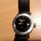 Ceas de lux RAYMOND WEIL PARSIFAL W1 barbatesc. Cadran negru. Inox. Ref. 6000 NOU!!! Pret retail 450 EURO!, Lux - elegant, Quartz