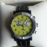 Ceas de lux RAYMOND WEIL PARSIFAL W1 barbatesc Cronograf. Cadran verde. Inox + carbon. Ref. 8000 NOU!!! Pret retail 850 USD!, Lux - sport, Quartz