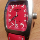 Ceas de lux LOCMAN unisex rosu. Ref. 4088. Carcasa aluminiu. NOU!!! Pret retail 490 USD!!!