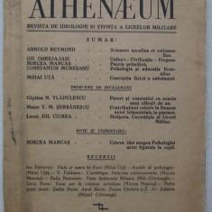 Athenaeum Nr. 3-4 (1936) Revista Liceelor Militare