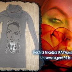 Rochita tricotata Kaya - Rochie tricotate, Culoare: Gri, Marime: Marime universala, Marime universala, Midi, Lunga