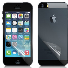 Folie profesionala transparenta DIAMOND full body fata spate Apple iPhone 5 5S by NEWTOP - Folie de protectie