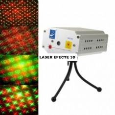 LASER BIG DIPPER CU EFECTE 3D, MODEL ROSU+VERDE, SUNET, AUTOMAT, LASER DISCO nou. - Laser lumini club