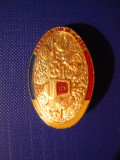 Insigna Militara Telecomunicatii Aniv.125 Ani , h= 3,3 cm