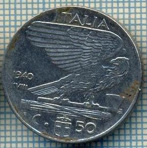 4652 MONEDA - ITALIA - 50 CENTESIMI - ANUL 1940 -magnetica -starea care se vede foto