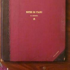 PVM - Note de Pian / pentru studiul pianului - Carte Arta muzicala