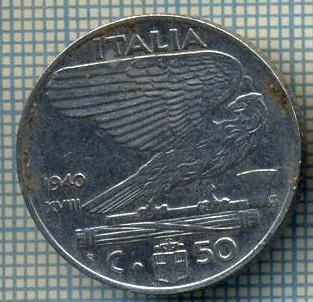 4651 MONEDA - ITALIA - 50 CENTESIMI - ANUL 1940 -magnetica -starea care se vede