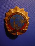 Insigna Titlu Pentru Merite in Posta si Telecomunicatii - FF Rara !, Romania de la 1950